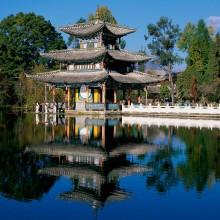 Deyue Pavilion, Black Dragon Pool Park, Lijiang, Yunnan Province, China